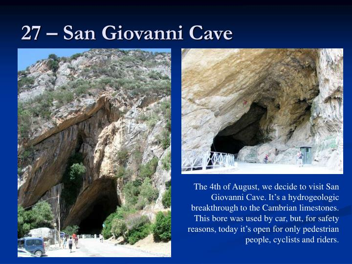 27 – San Giovanni Cave