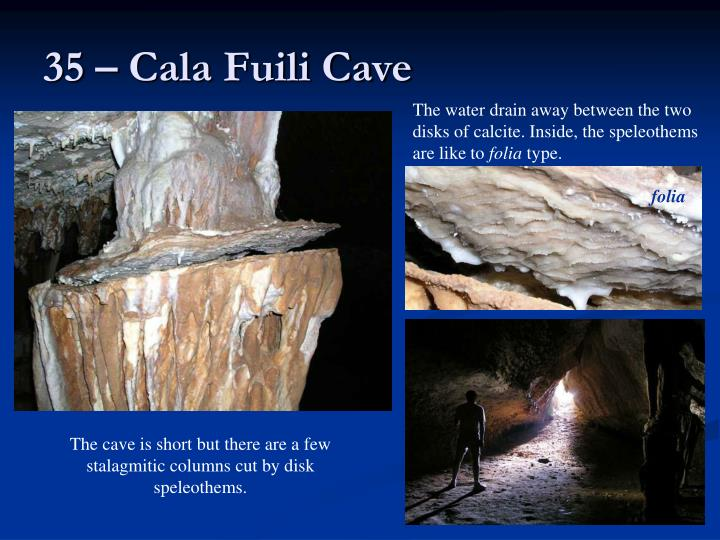 35 – Cala Fuili Cave