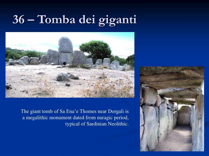 36 – Tomba dei giganti