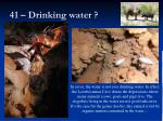 41 drinking water