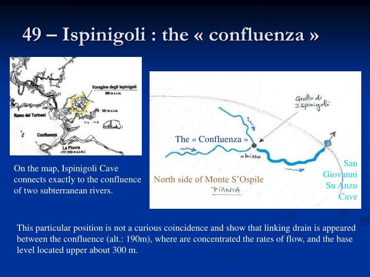 49 – Ispinigoli : the « confluenza »