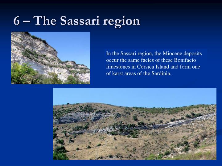 6 – The Sassari region