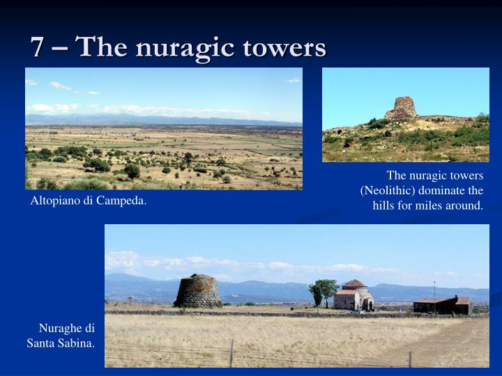 7 – The nuragic towers