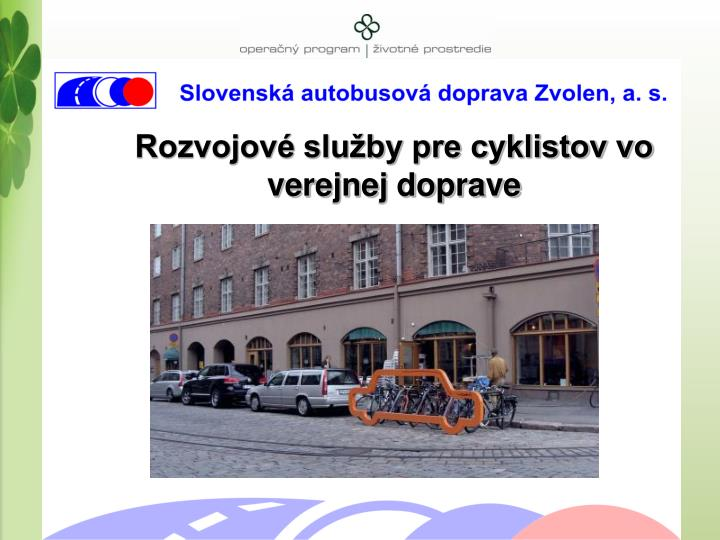 Rozvojové služby pre cyklistov vo verejnej doprave