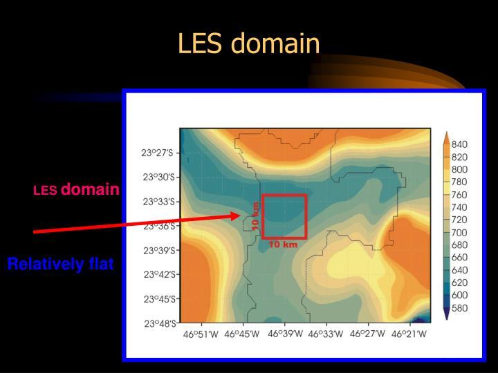 LES domain