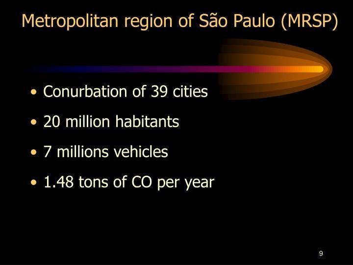 Metropolitan region of São Paulo (MRSP)