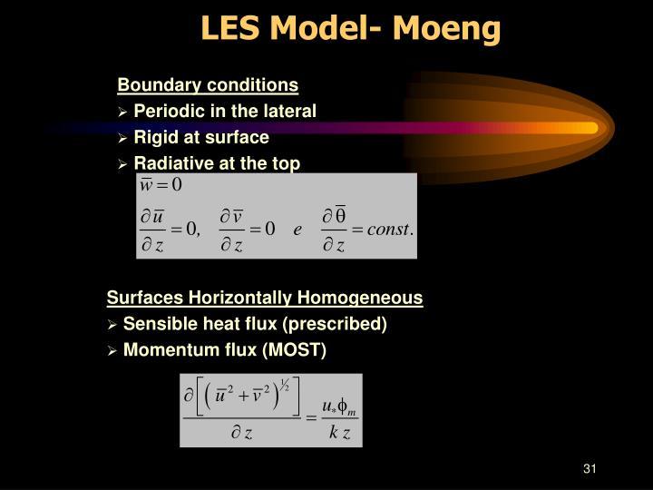 LES Model- Moeng