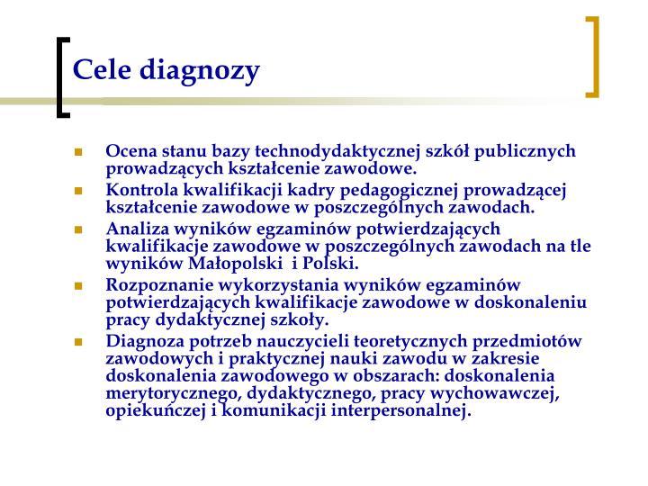 Cele diagnozy
