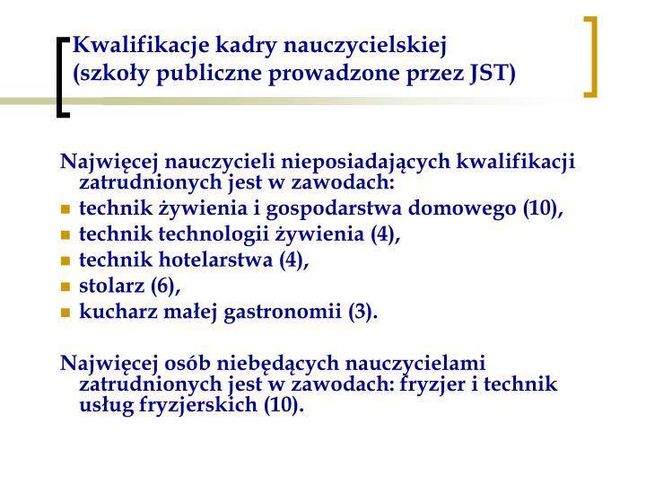 Kwalifikacje kadry nauczycielskiej