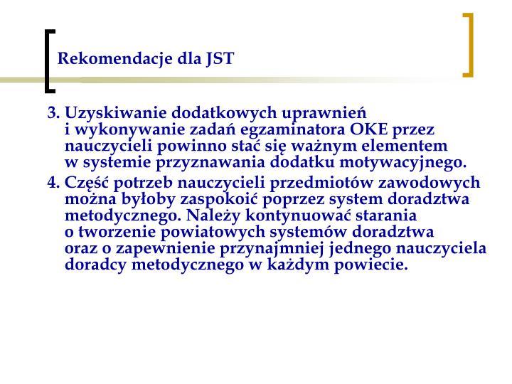 Rekomendacje dla JST
