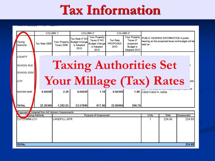 Tax Information