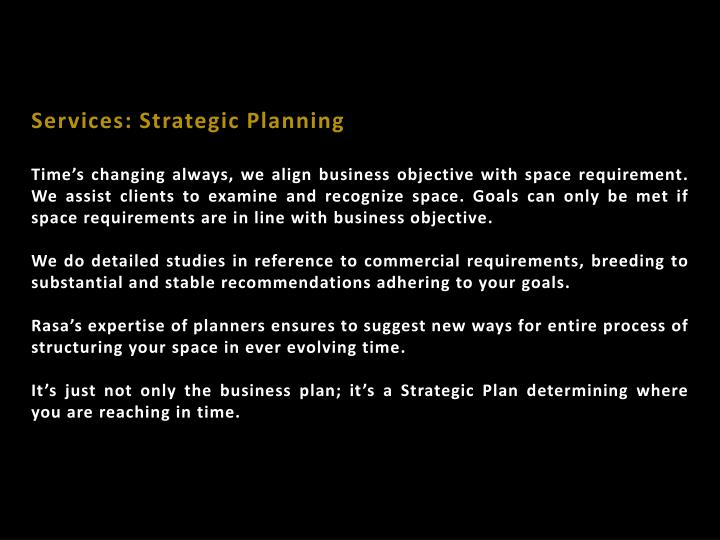 Services: Strategic Planning