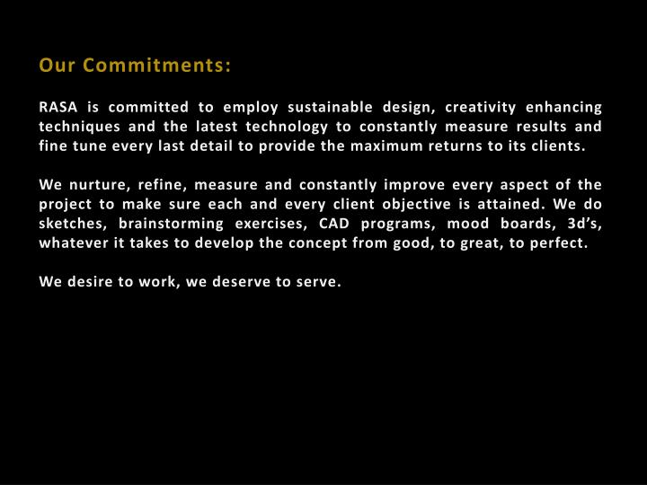 Our Commitments: