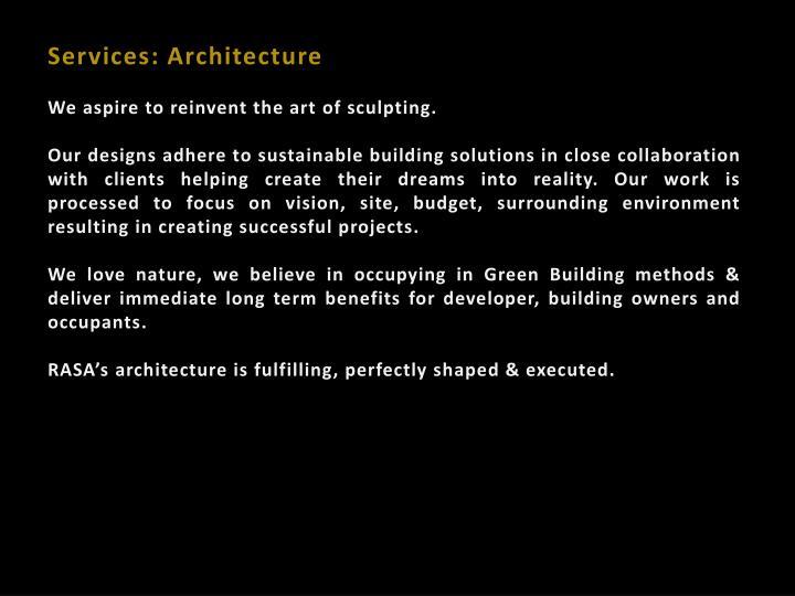 Services: Architecture