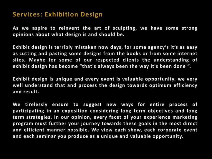 Services: Exhibition Design