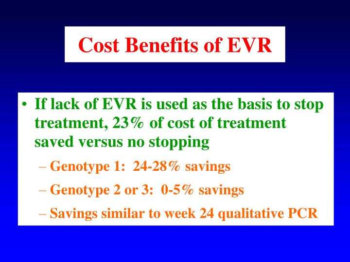 Cost Benefits of EVR