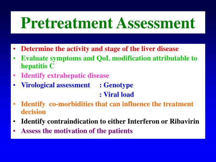 Pretreatment Assessment