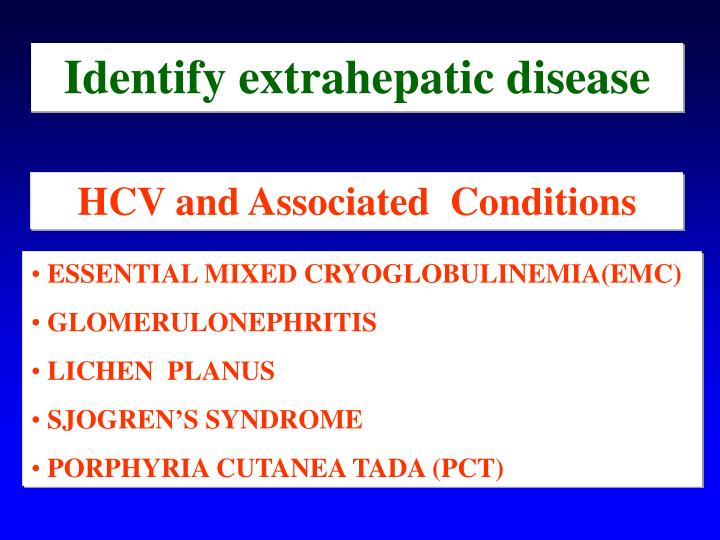 Identify extrahepatic disease