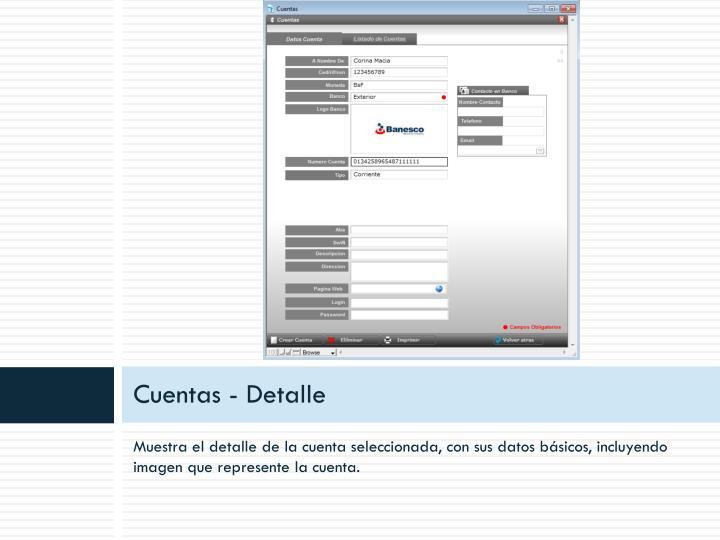 Cuentas - Detalle