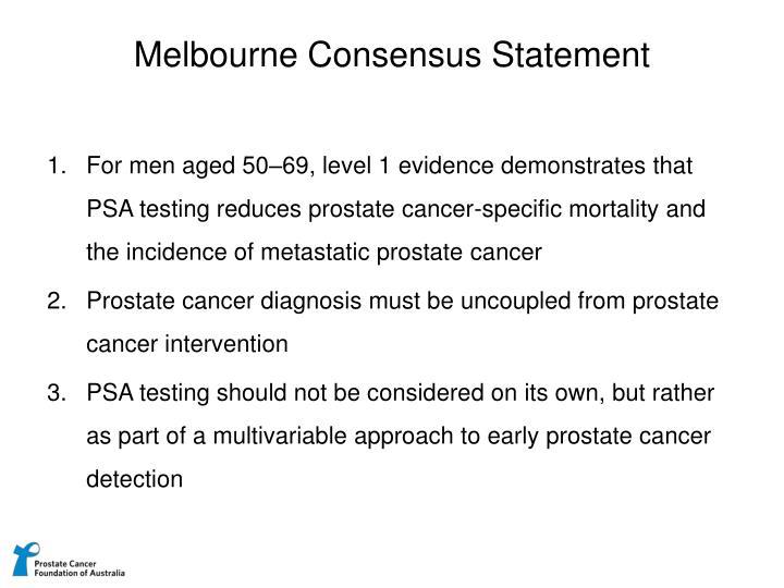 Melbourne Consensus Statement