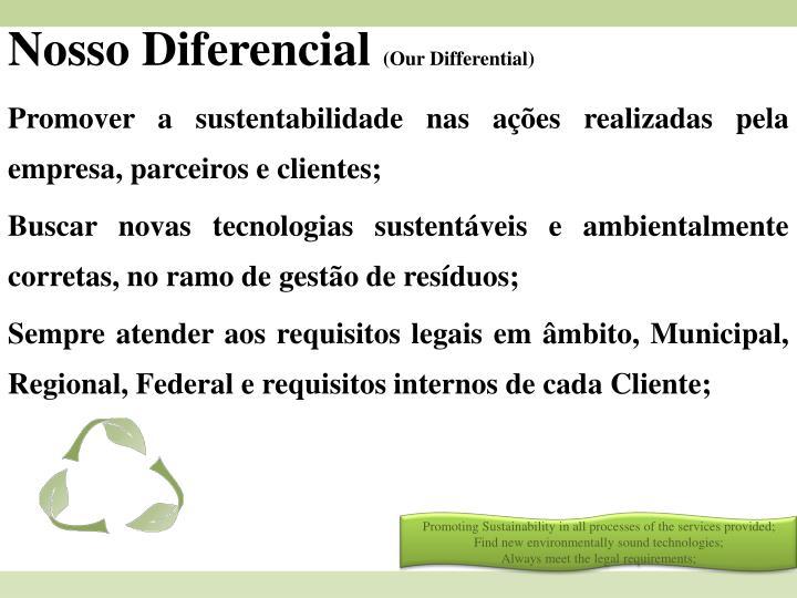 Nosso Diferencial
