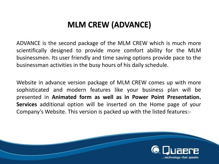 MLM CREW (ADVANCE)