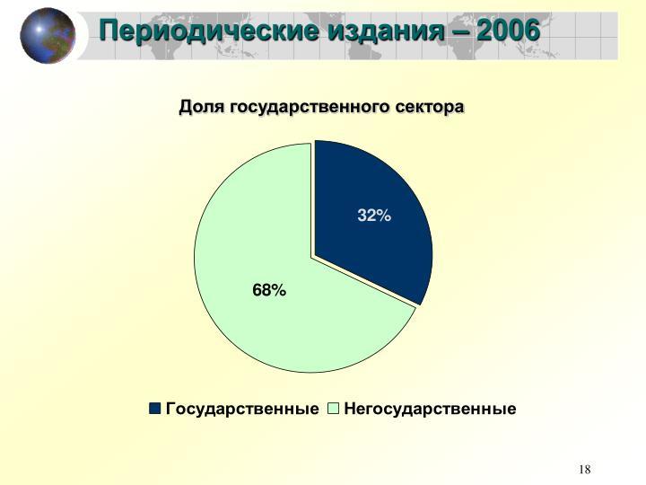 Периодические издания – 2006