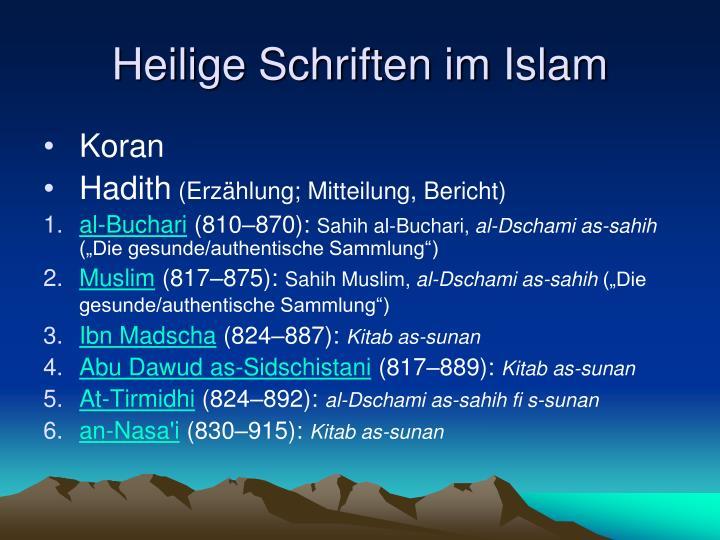 Heilige Schriften im Islam