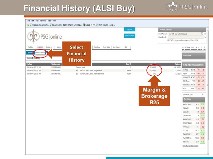 Financial History (ALSI Buy)