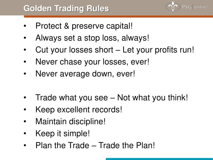 Golden Trading Rules