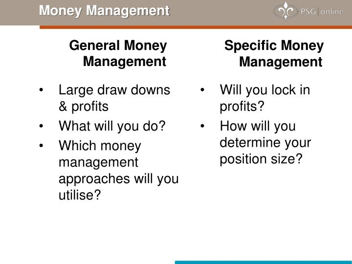 General Money Management