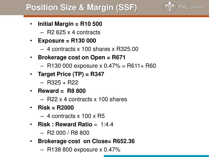 Position Size & Margin (SSF)