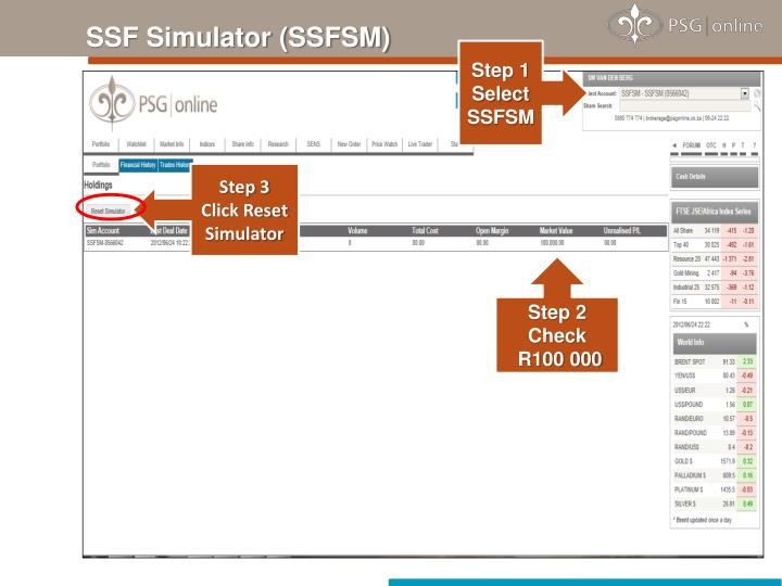 SSF Simulator (SSFSM)
