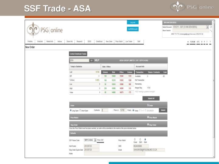 SSF Trade - ASA