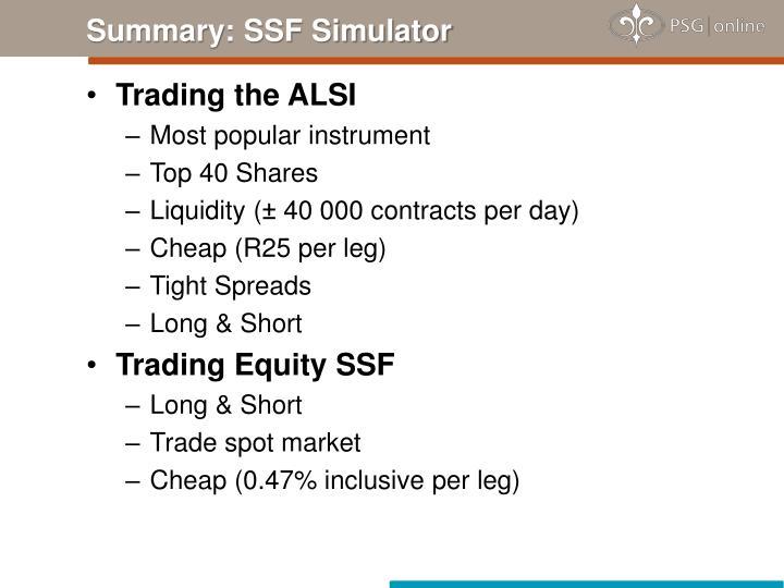 Summary: SSF Simulator