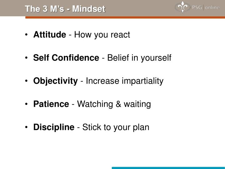 The 3 M's - Mindset