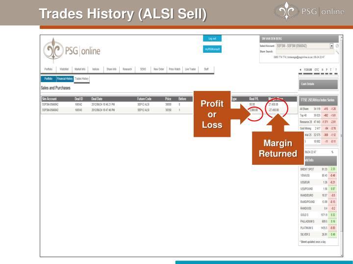 Trades History (ALSI Sell)