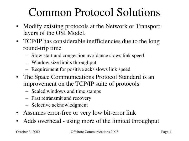 Common Protocol Solutions