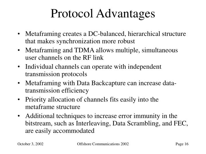 Protocol Advantages
