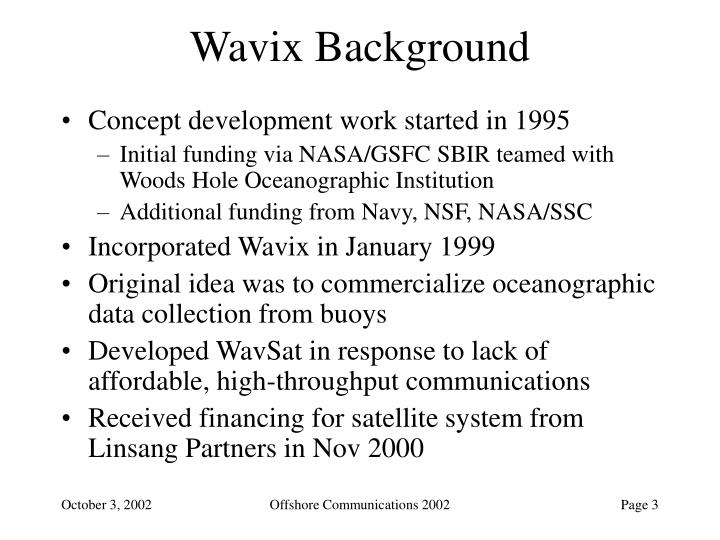 Wavix Background