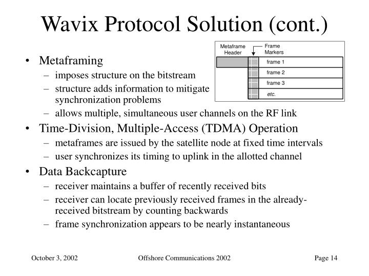 Wavix Protocol Solution (cont.)