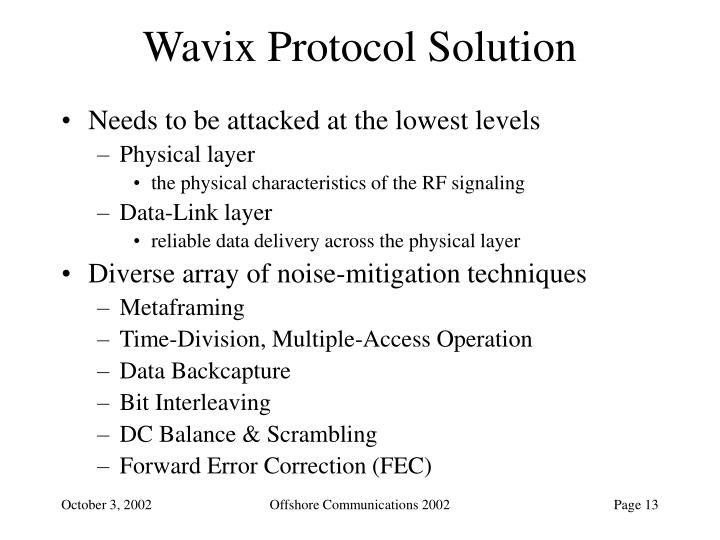 Wavix Protocol Solution