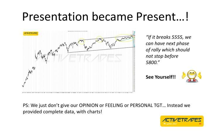 Presentation became Present…!