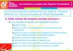les missions sociales des experts comptables