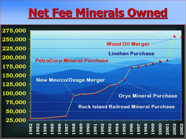Net Fee Minerals Owned