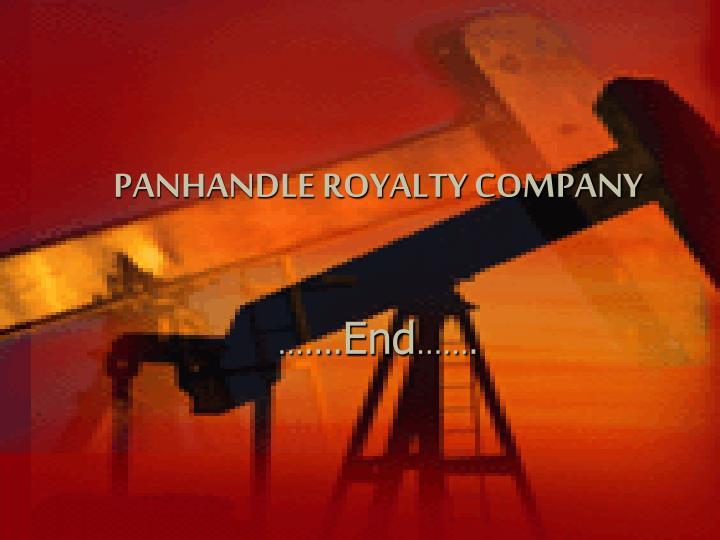 PANHANDLE ROYALTY COMPANY