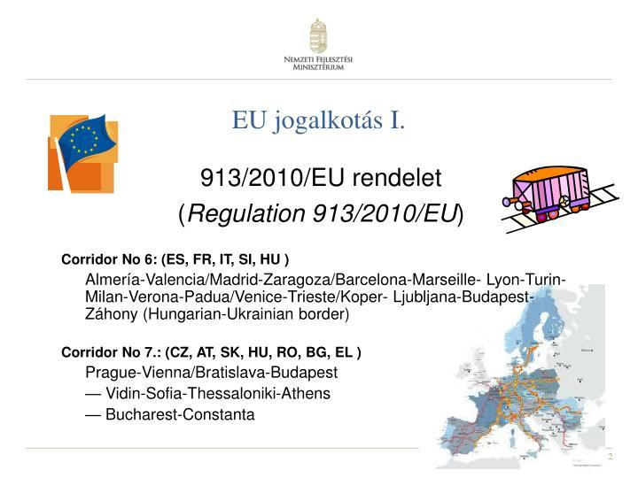 EU jogalkotás I.