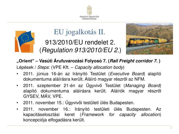 EU jogalkotás II.