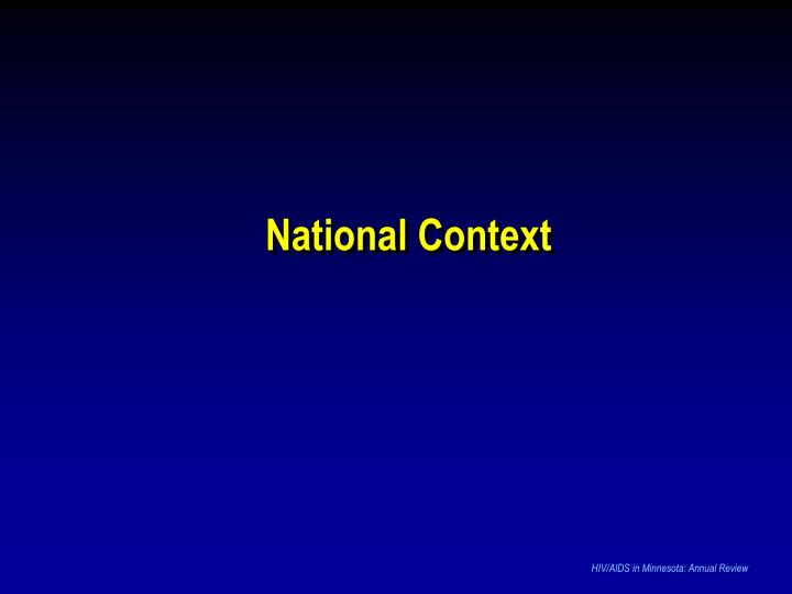 National Context