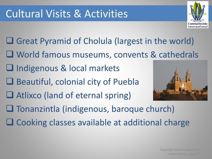 Cultural Visits & Activities
